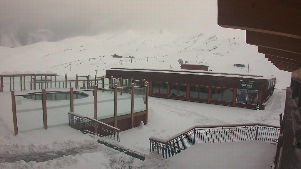 valle nevado july snow