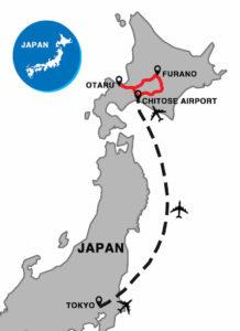 otaru to furano in Hokkaido