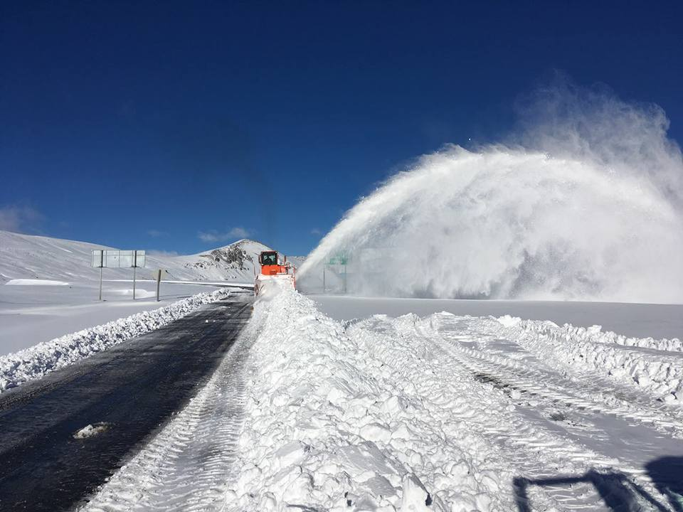 snow on Pehuenche pass