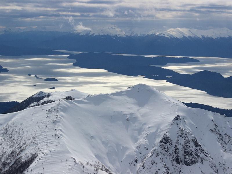 patagonia landscapes over Nahuel Huappi