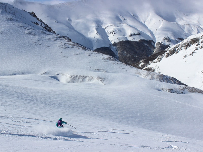 skiing in patagonia