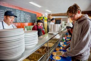 cafeteria for inca lodge guests