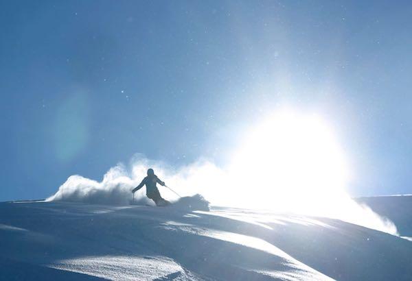 powder skiing in july