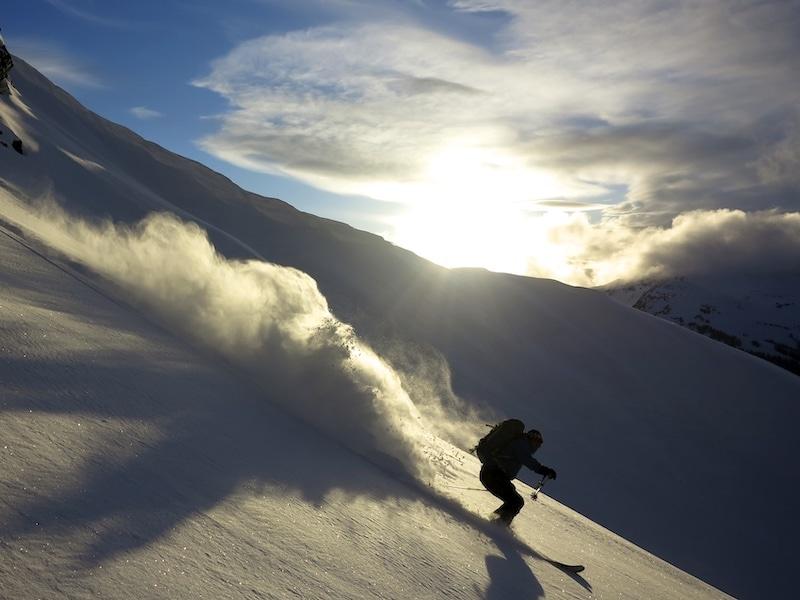 powder skiing in whistler backcountry