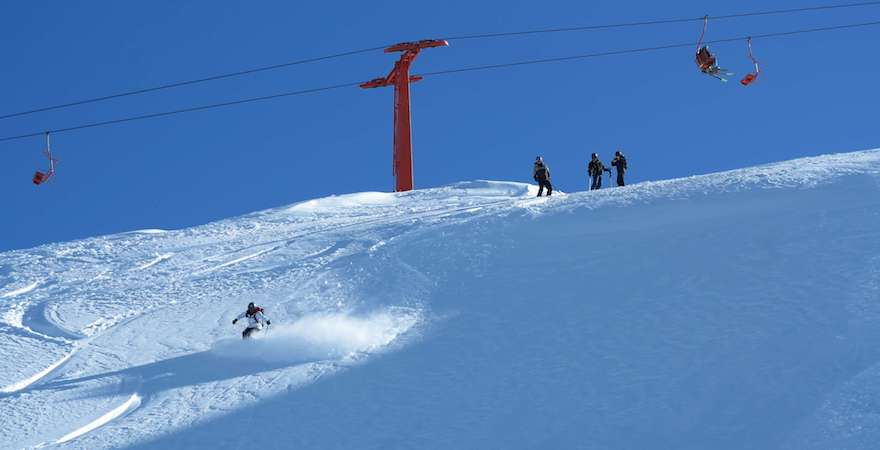 ski progression trip in chile