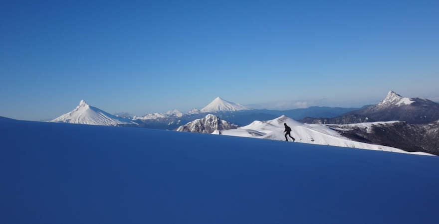 ski chile volcanos