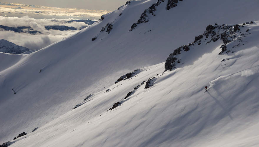 backcountry skiing in chile