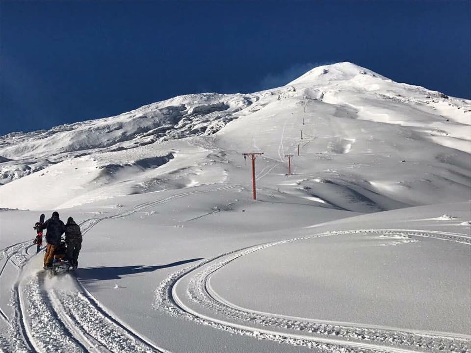 sledding in Chile