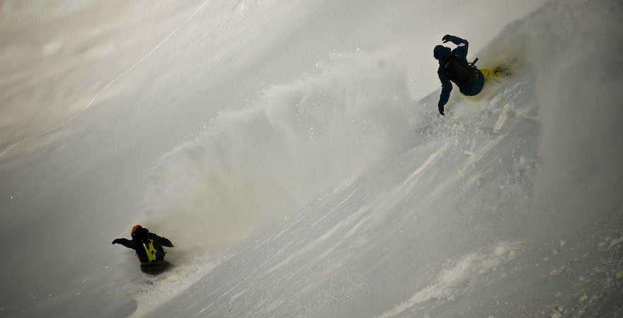 snowboarding the andes
