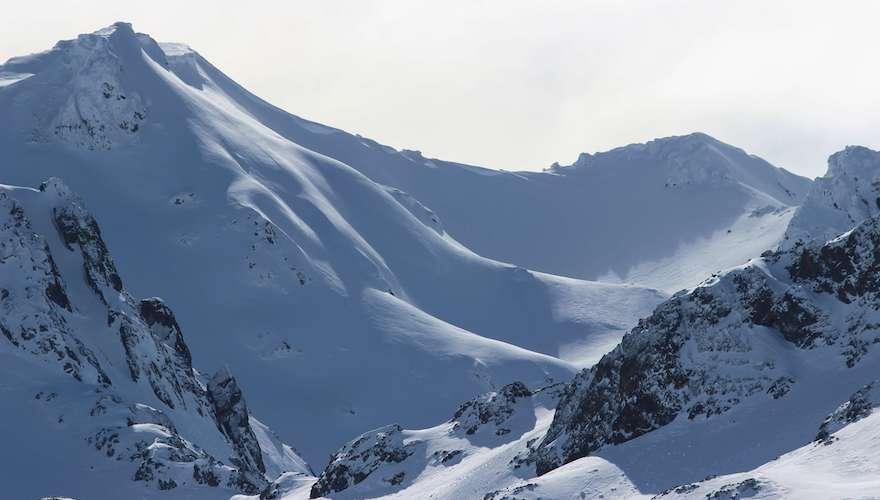snowboard terrain in argentina