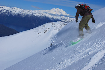 snowboarding in cerro bayo