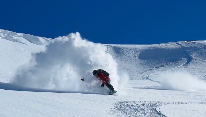 snowboarding in chile