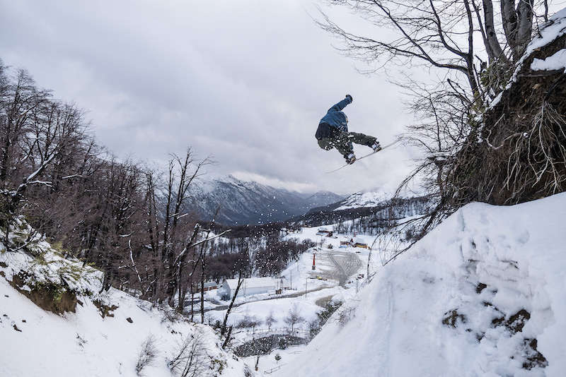 snowboarding in south america