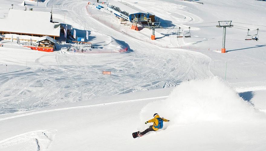 all mountain off piste summer snowboarding destinations
