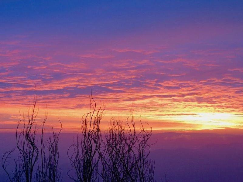 farellones sunset in chile