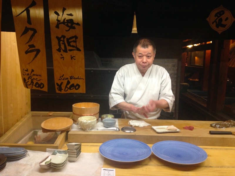 sushi man in hakuba