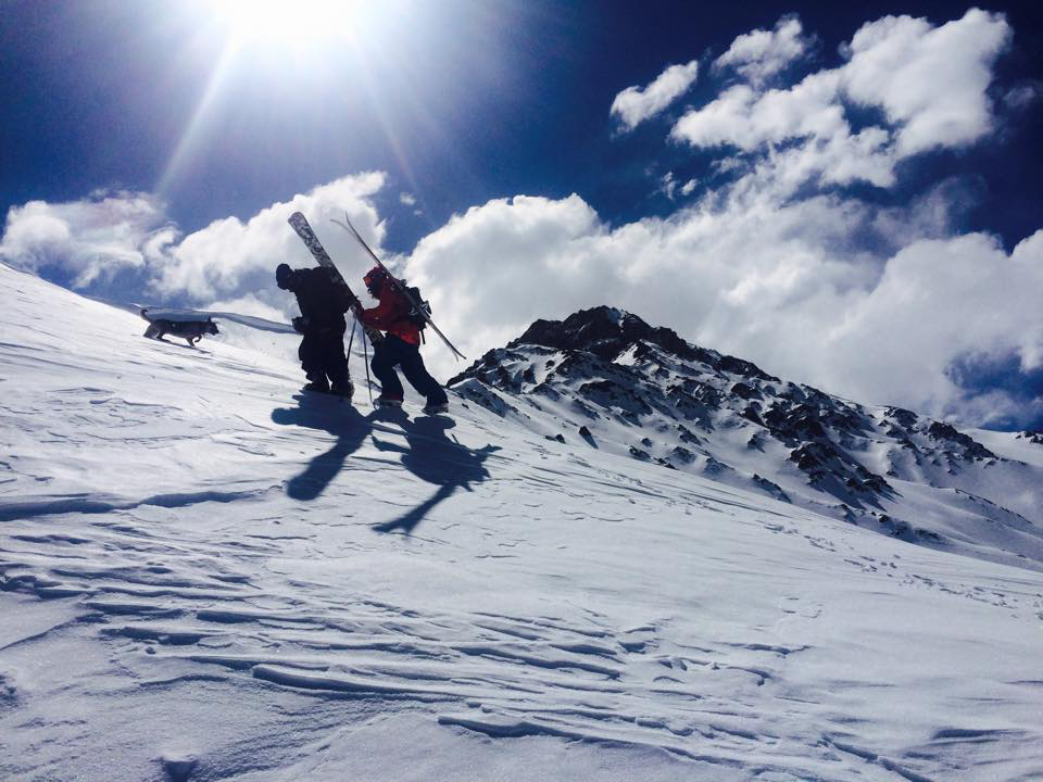 backcountry exploring in Penitentes Argentina
