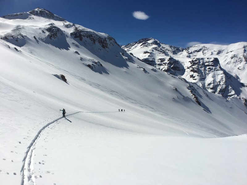 backcountry touring the andes