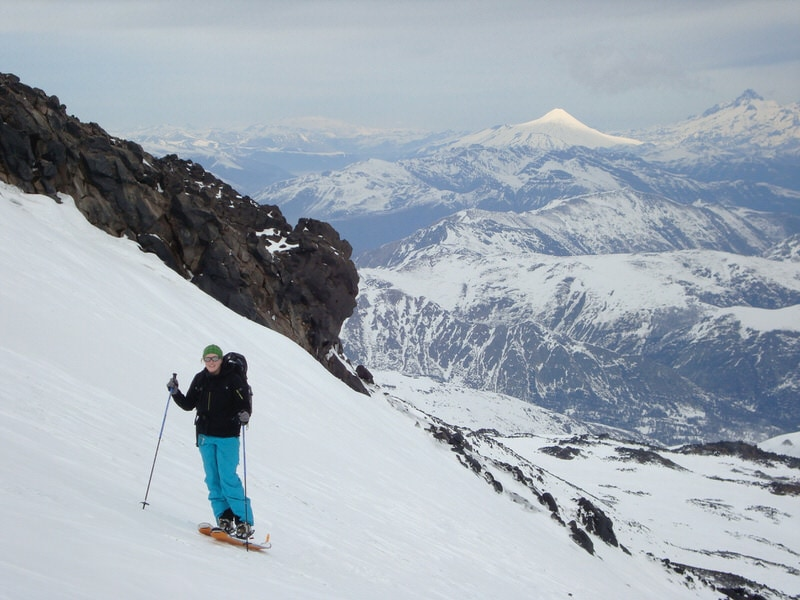 ski touring in chile