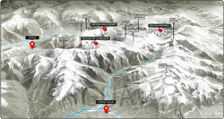 Baguales Trail Map