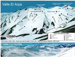 El Arpa Trail Map