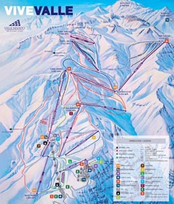 Valle Nevdao Trail Map